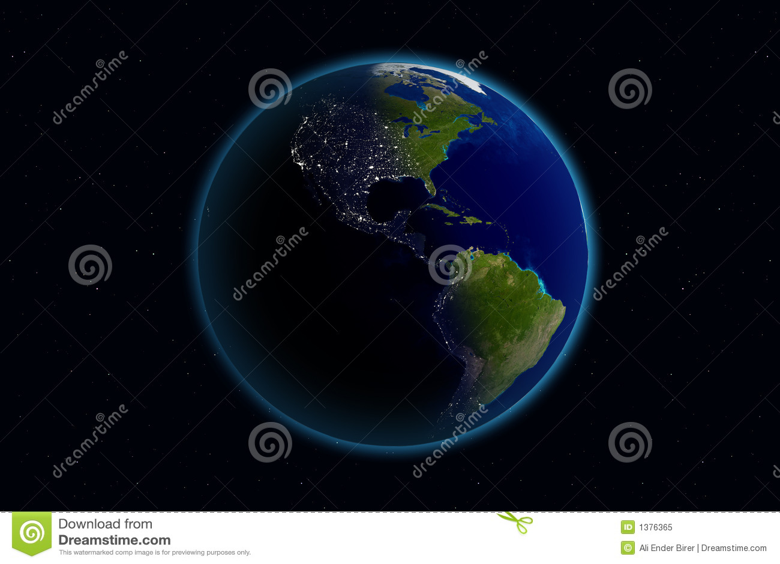 Earth - Day & Night - America