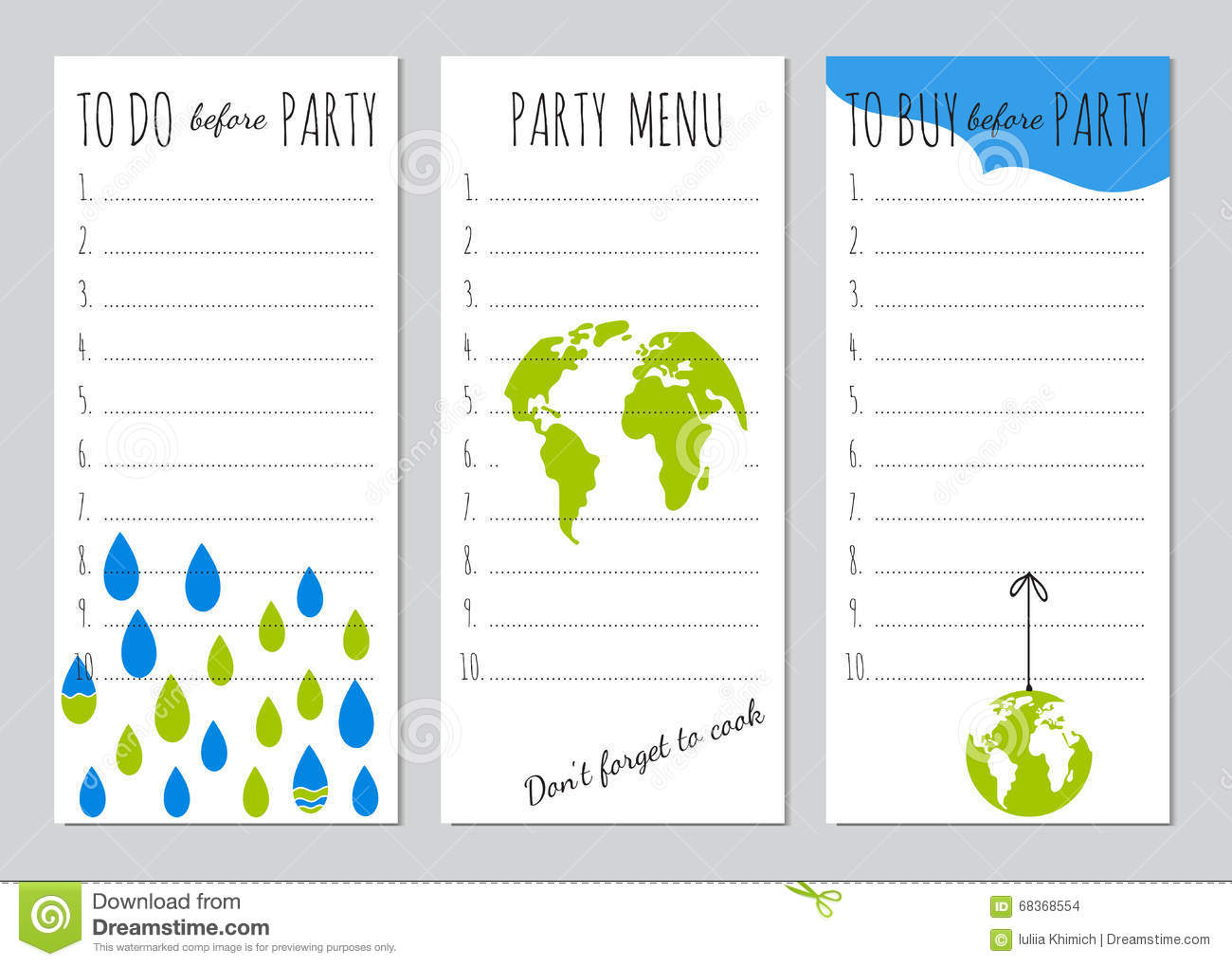 earth day party organizer stock vector illustration of plan 68368554