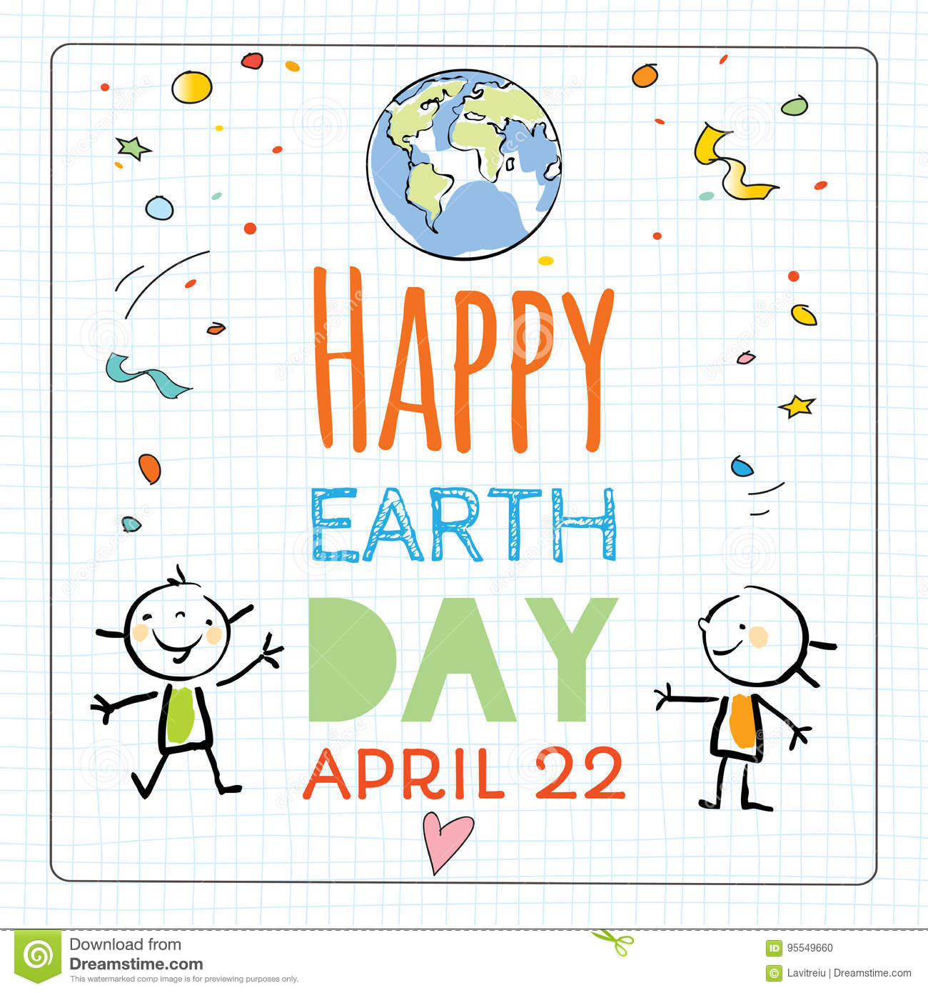 Download Earth Day Poster Background Stock Vector