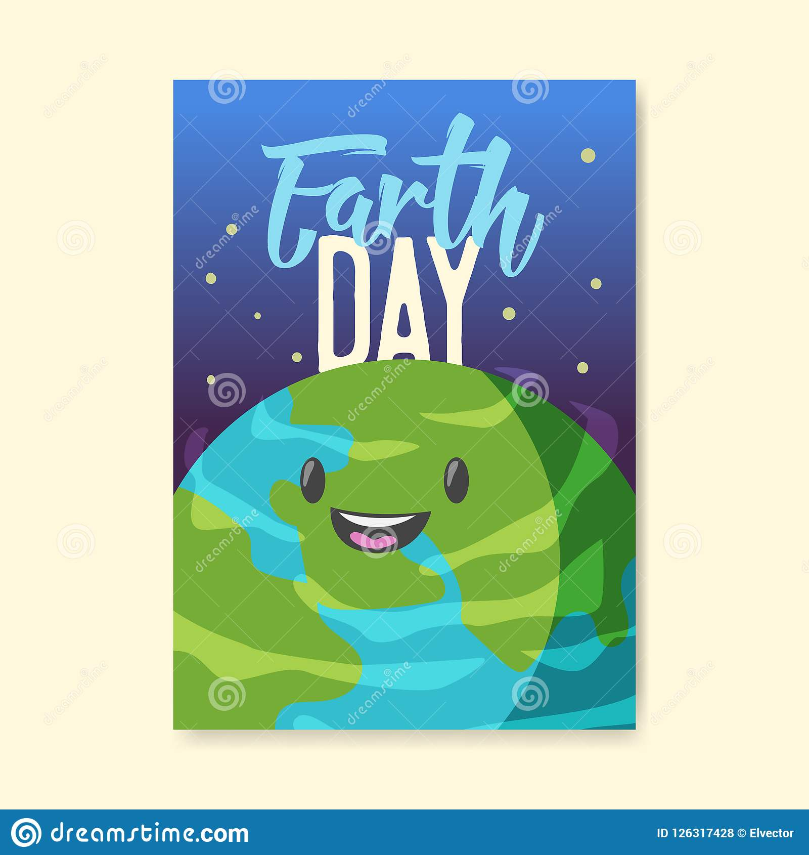 earth day poster flyer brochure template happy green planet