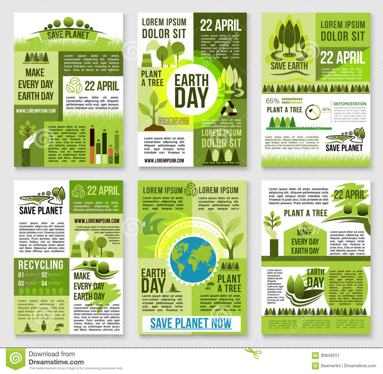 Poster design on save earth - Earth Day Poster Template For Ecology Design