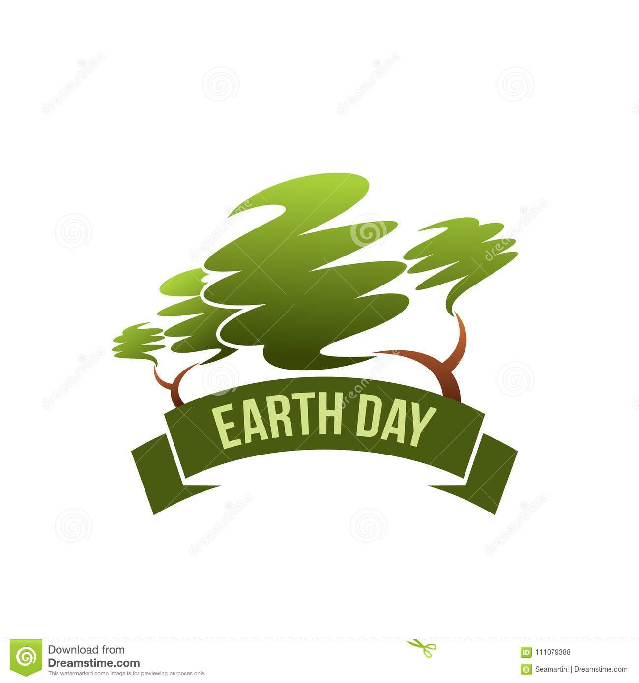 earth day save planet green nature vector icon stock vector