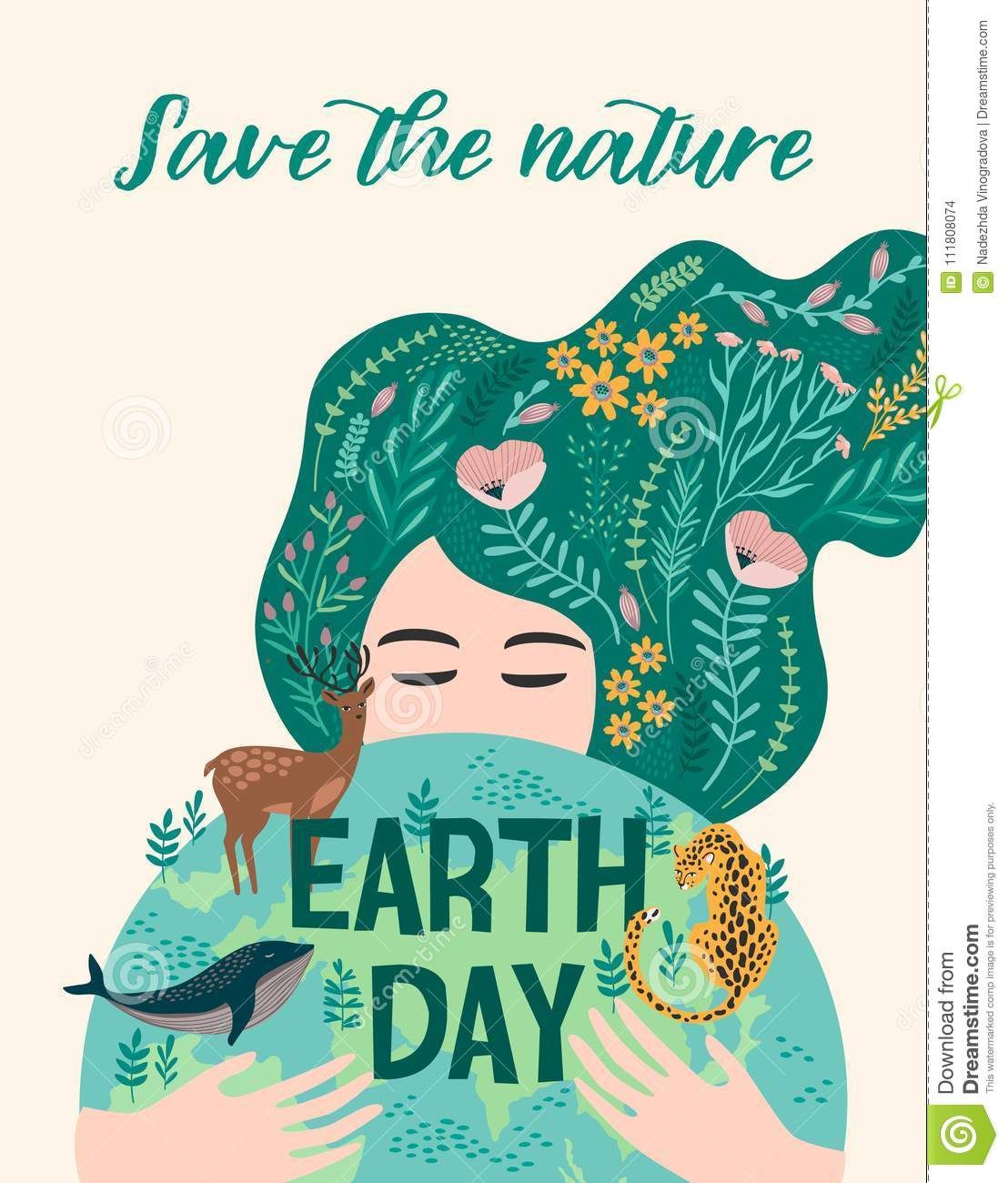 Earth Day. Vector Design For Card, Poster, Banner, Flyer