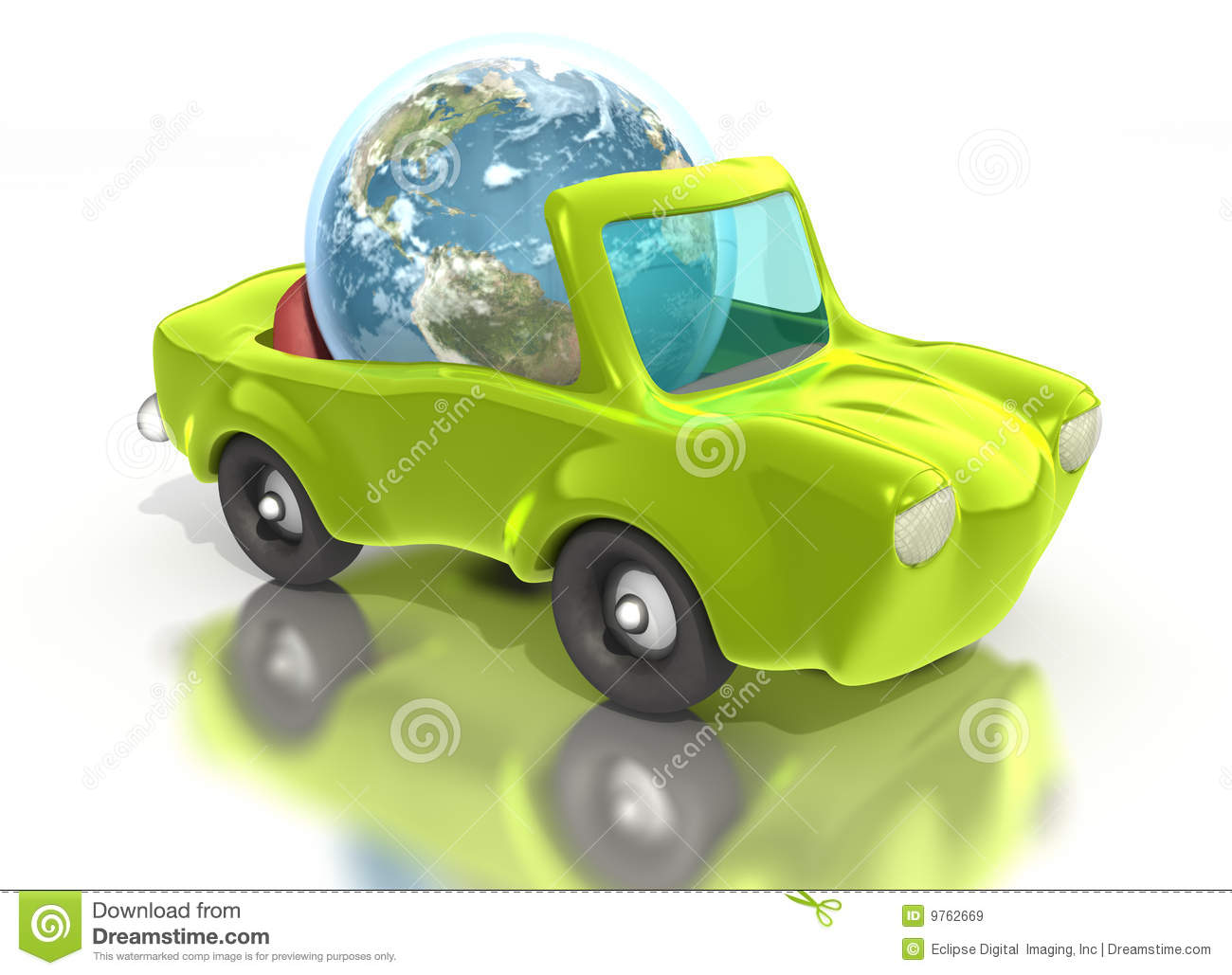 Earth Driving Green Convertible Car Royalty Free Stock Images Image 9762669