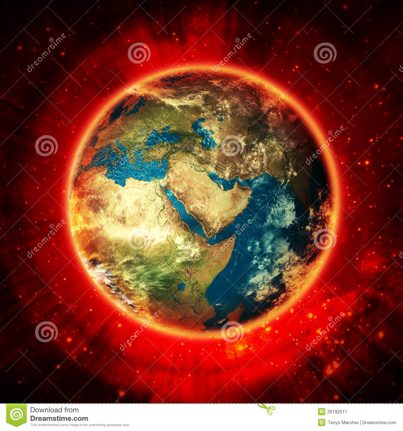 Earth Energy In Space Stock Image - Image: 26192511