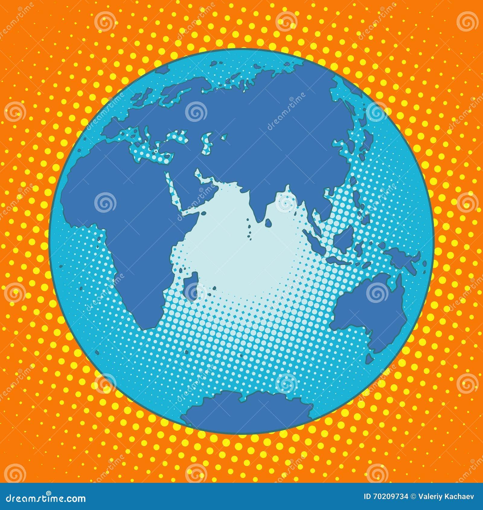 Earth Eurasia Africa Australia Antarctica Asia Europe Stock Vector ...