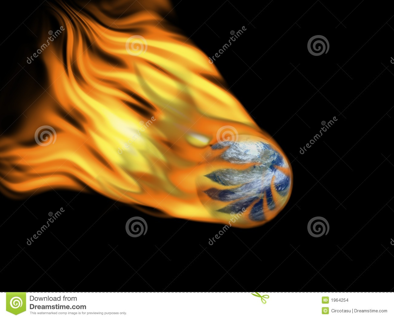 Earth on fire