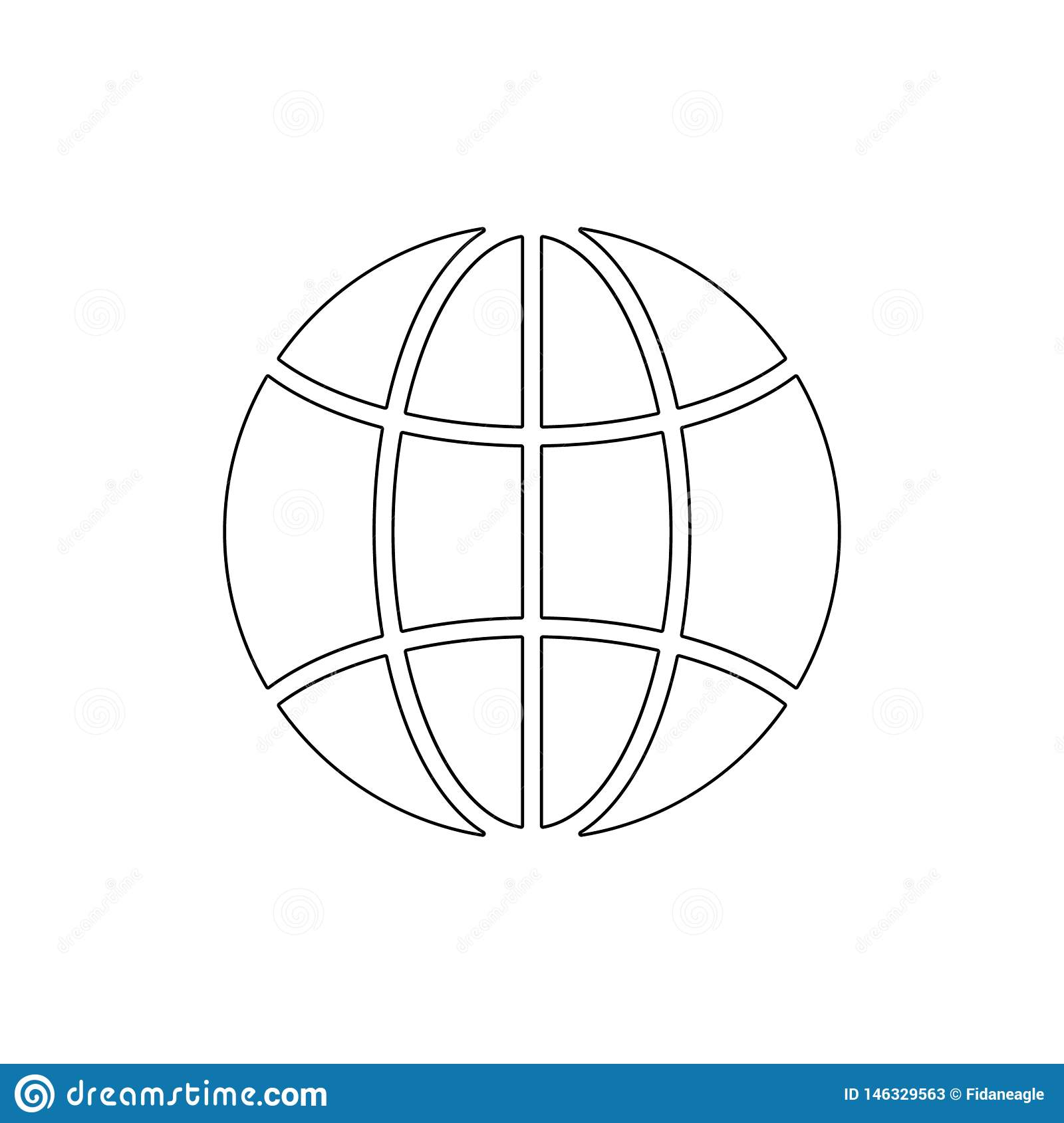 Earth global globe international planet world internet outline icon. Signs and symbols can be used for web, logo, mobile app, UI,