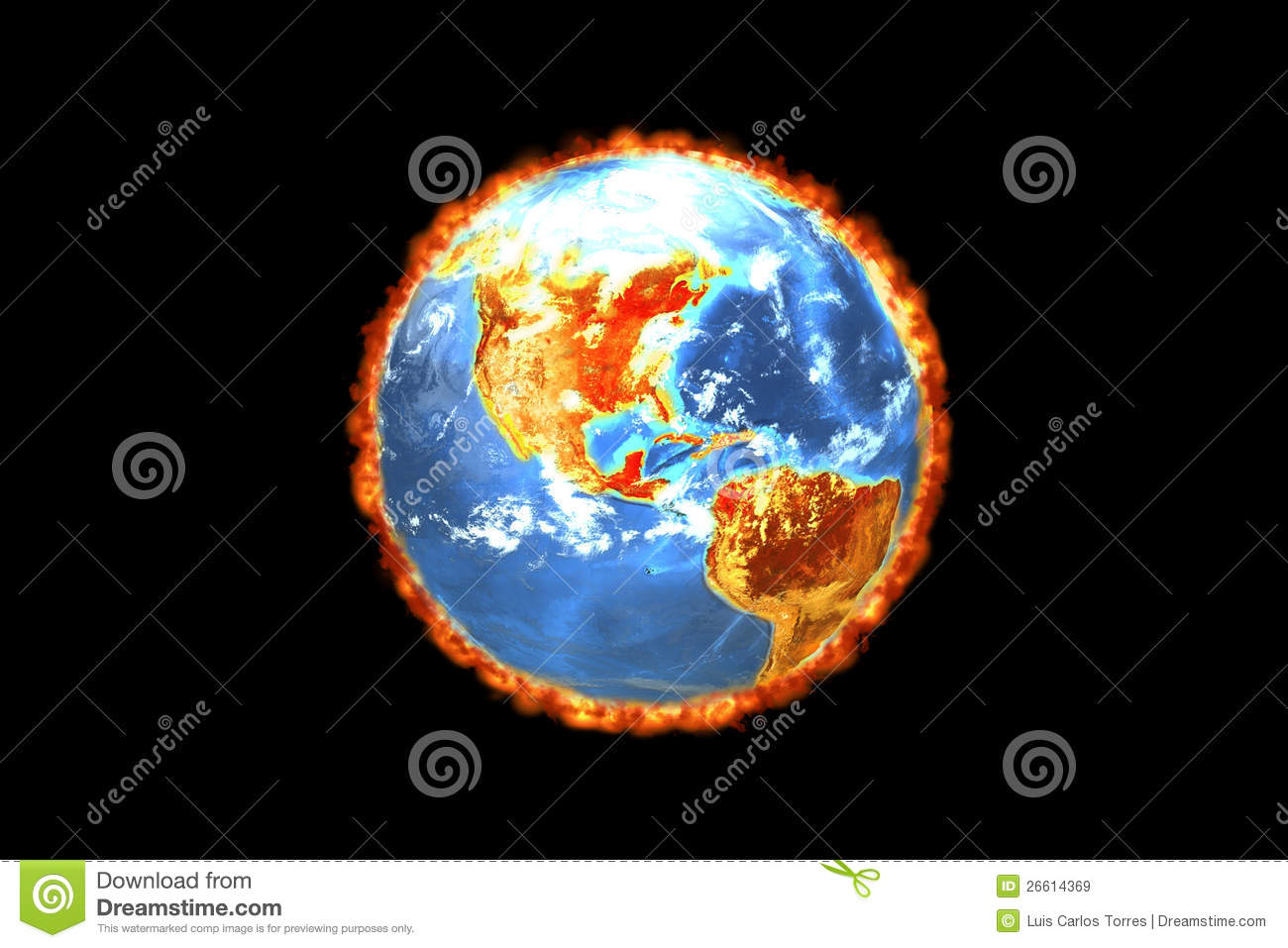 Earth - Global Warming (3D) Royalty Free Stock Images ...