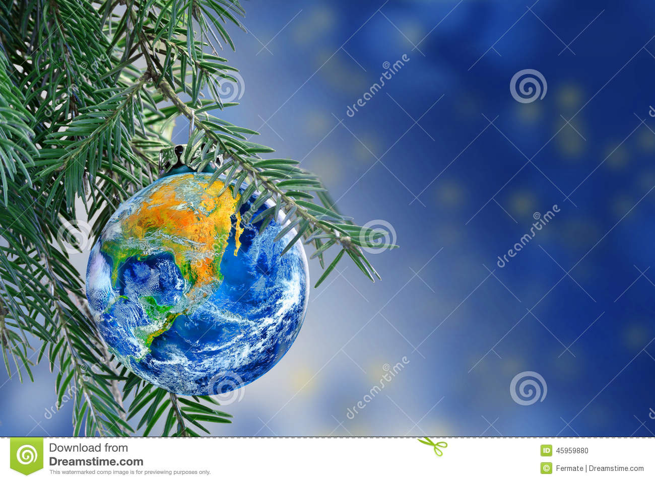World globe christmas ornaments - Bauble Branch Christmas Copy Earth Fir Globe