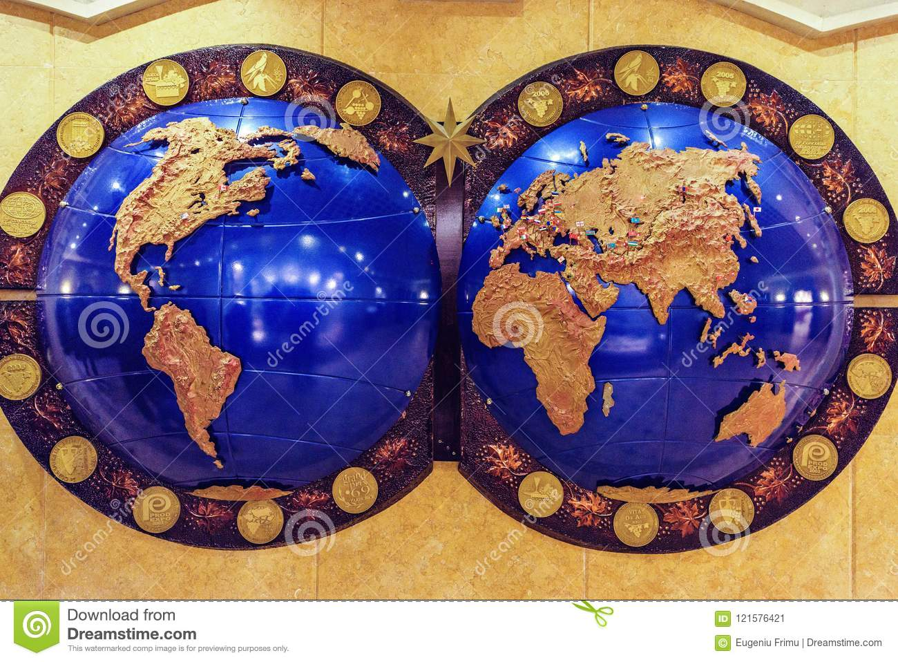 countries of the world map