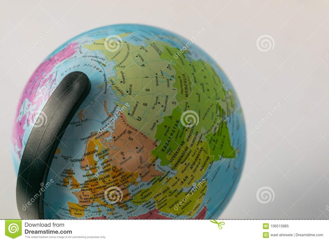 Earth globe map with focus on asia russia canada north pole stock download earth globe map with focus on asia russia canada north pole stock gumiabroncs Images