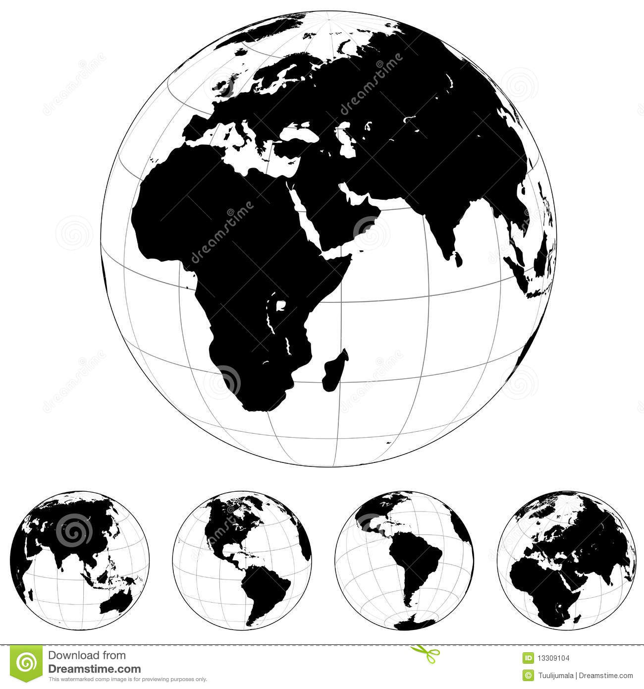 Earth globe shapes stock vector illustration of europe 13309104 earth globe shapes gumiabroncs Gallery