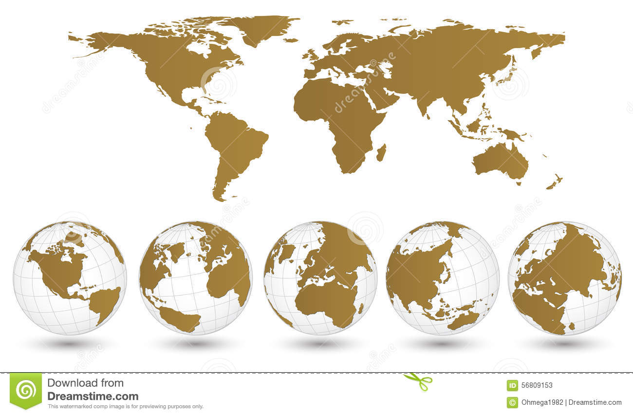 Earth globe with world map detail vector illustrator stock vector earth globe with world map detail vector illustrator gumiabroncs Image collections