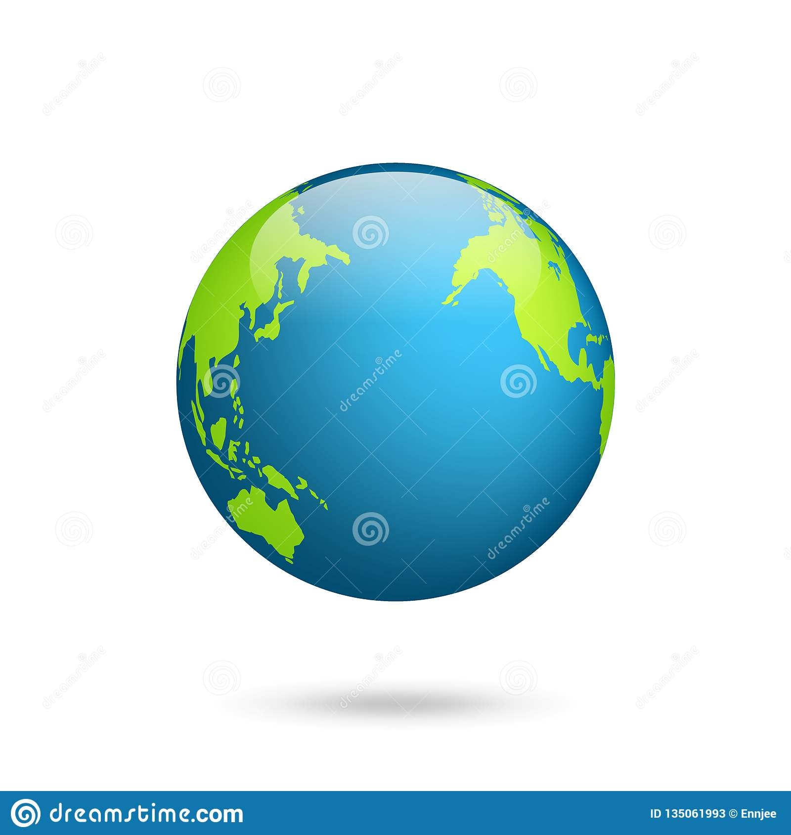 Map Of Africa Asia And Europe.Earth Globe World Map Set Planet With Continents Africa Asia