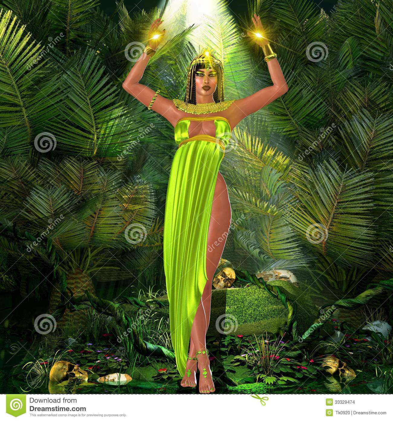 95e662d16889f Earth Goddess stock photo. Image of legs, mystical, green - 33329474