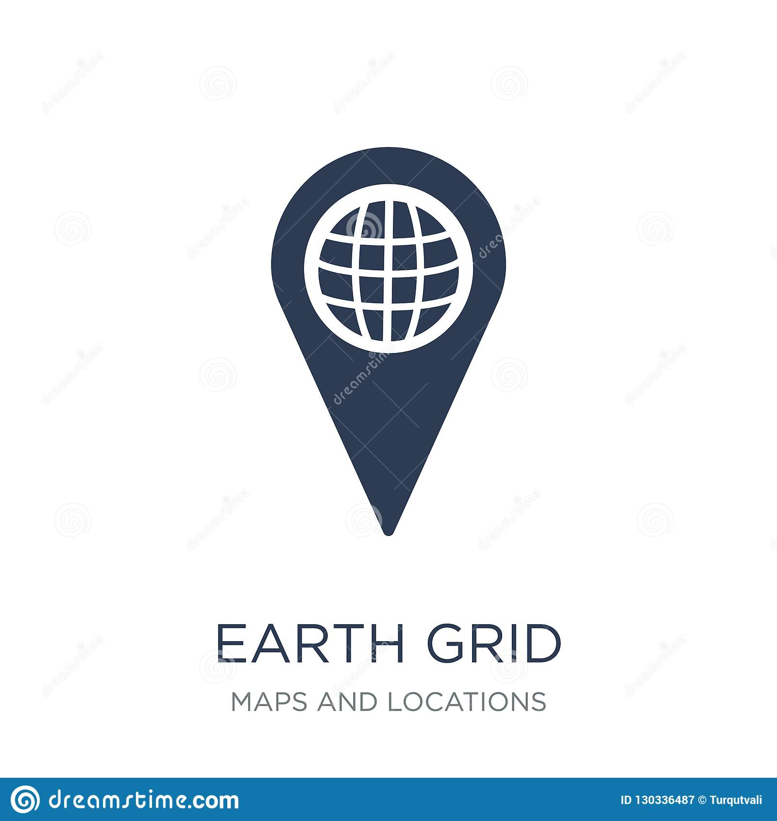 Earth grid icon. Trendy flat vector Earth grid icon on white background from Maps and Locations collection