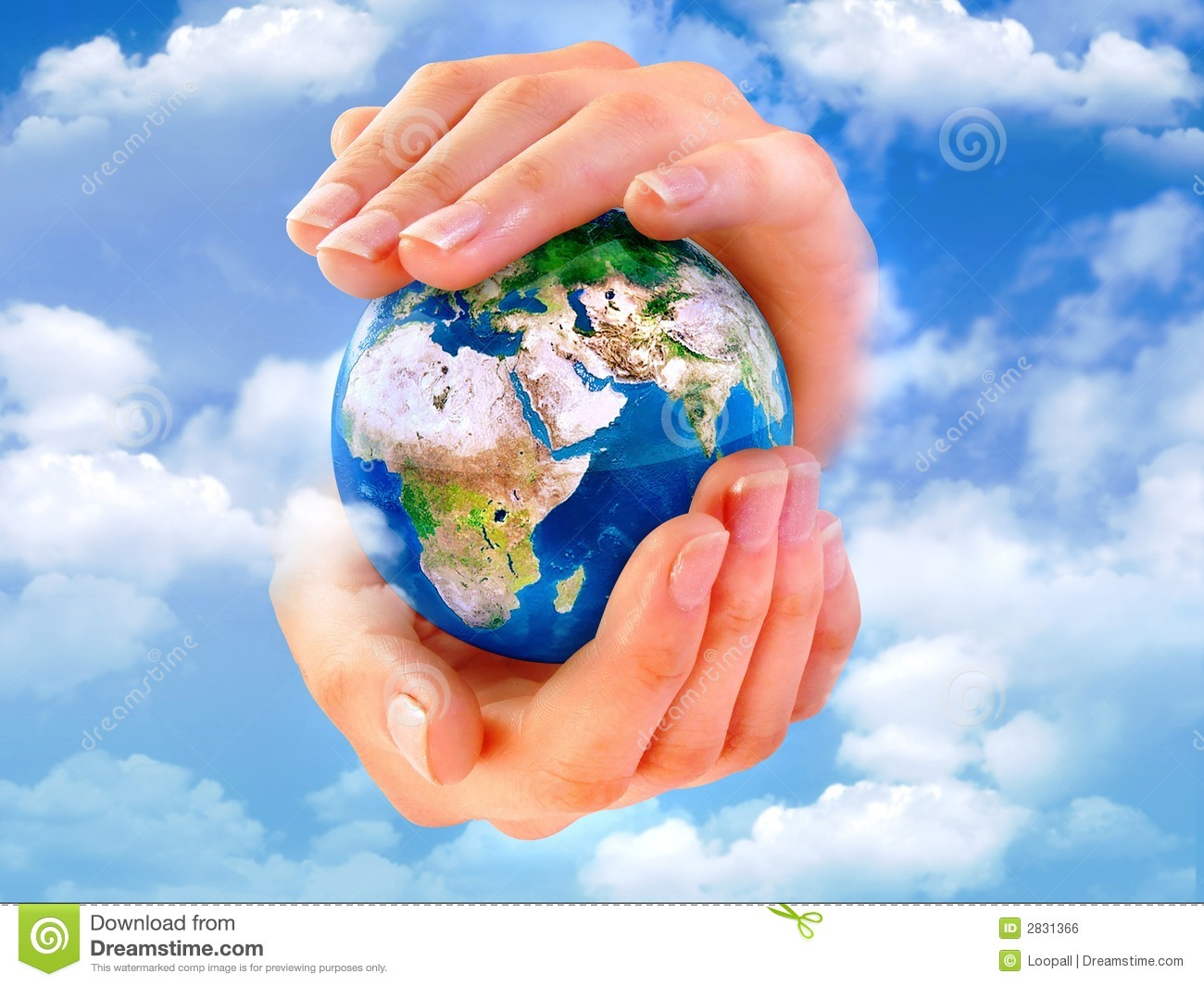 Earth In Hands Royalty Free Stock Image - Image: 2831366