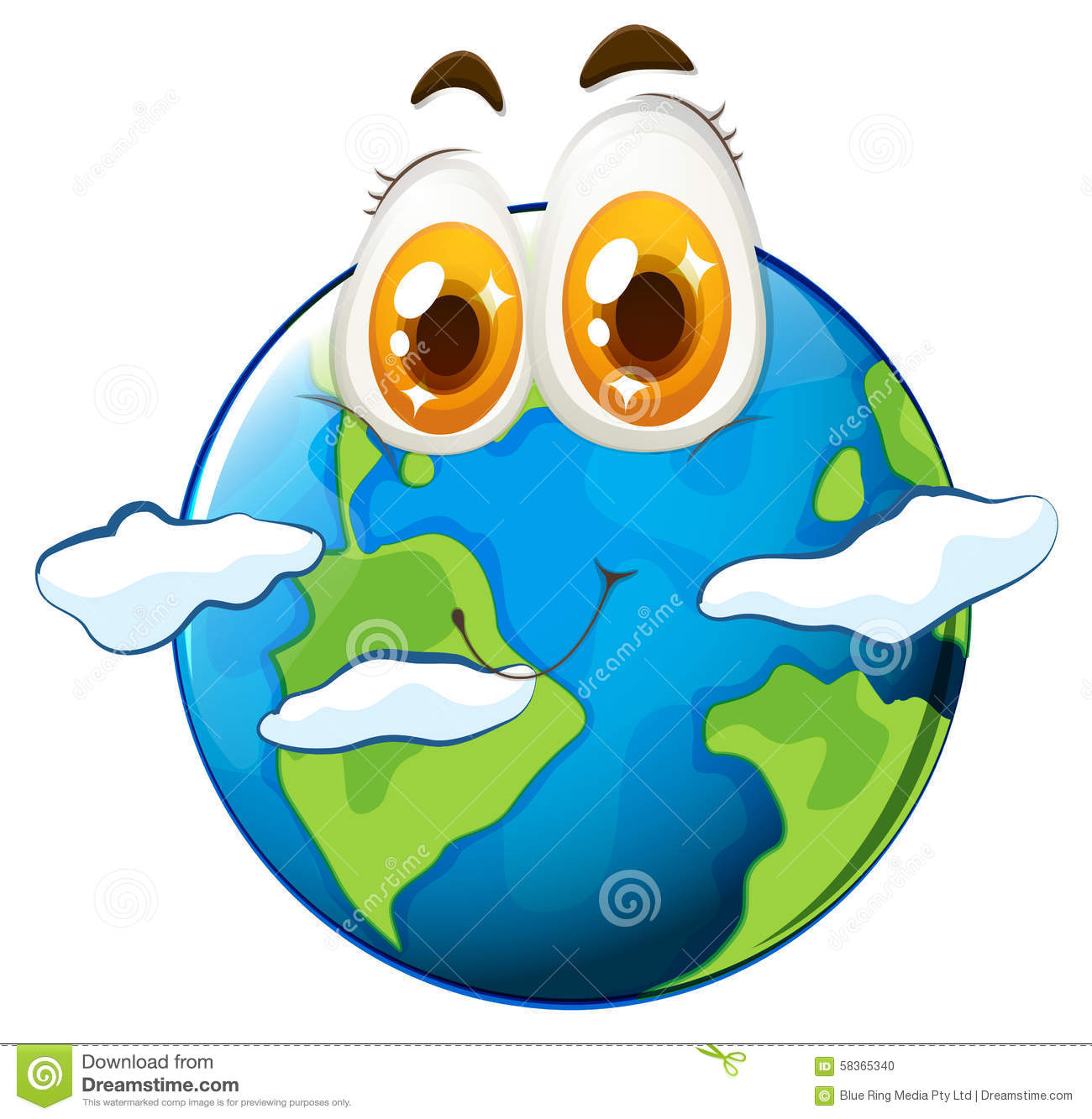 Earth With Happy Face Stock Vector - Image: 58365340 | 1300 x 1333 jpeg 142kB