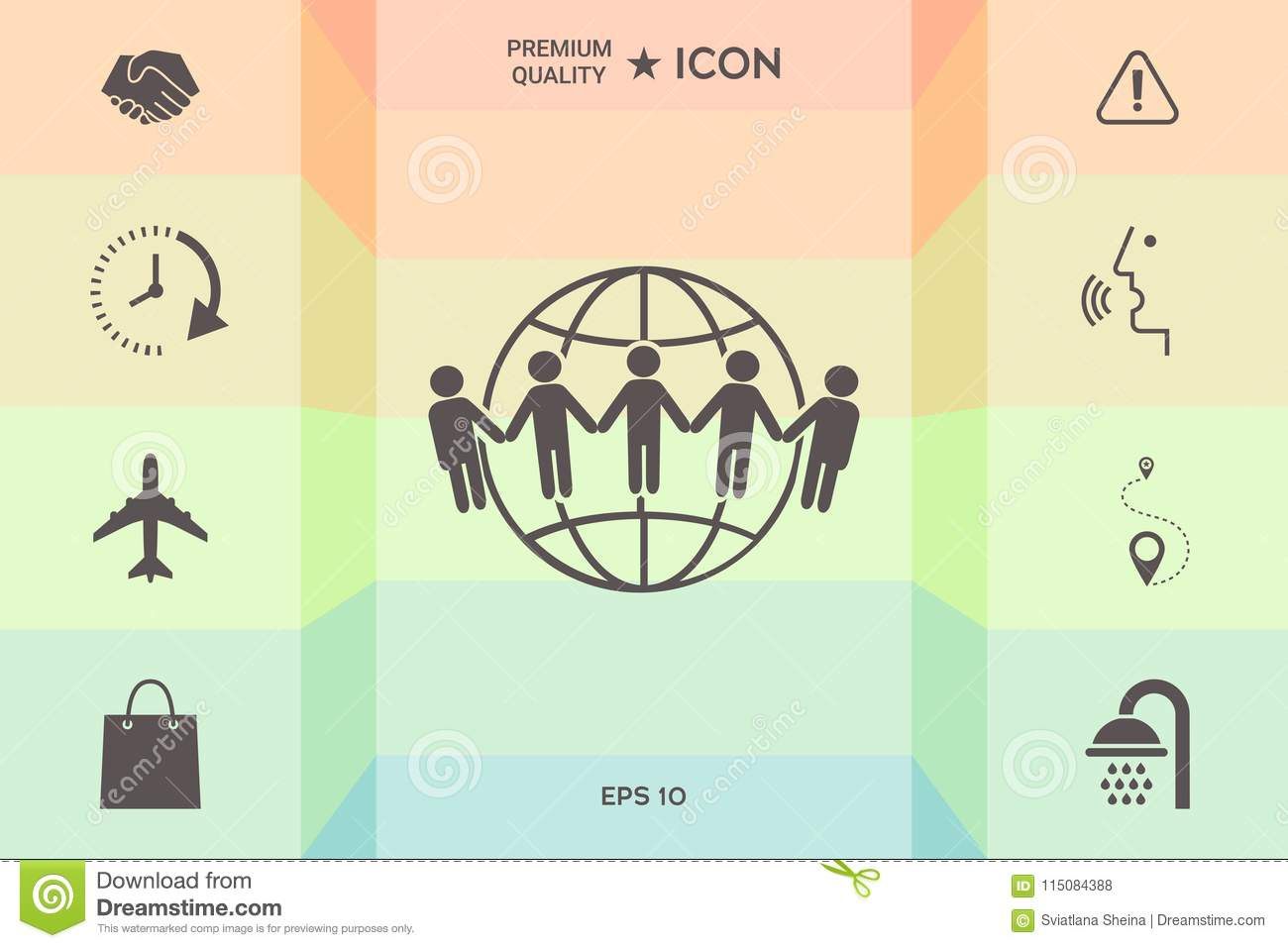Earth Icon Communication Around The World Concept Global Community