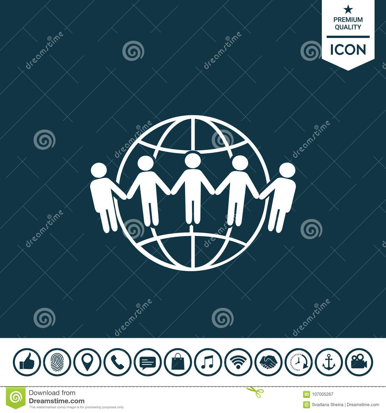 Earth Icon Communication Around The World Concept Global Stock