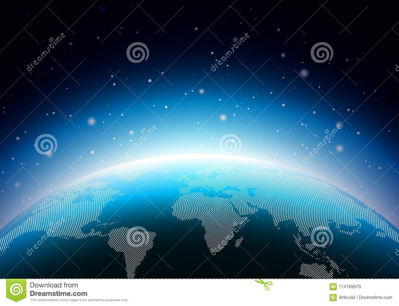 Earth illustration with blue planet world map or globe background earth illustration with blue planet world map or globe background concept vector design for banner poster or greeting gumiabroncs Gallery