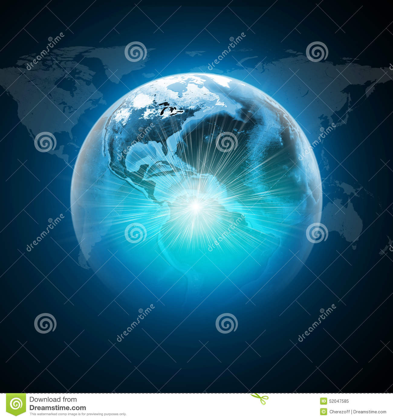 Earth with light and world map on dark blue stock image image earth with light and world map on dark blue sciox Image collections