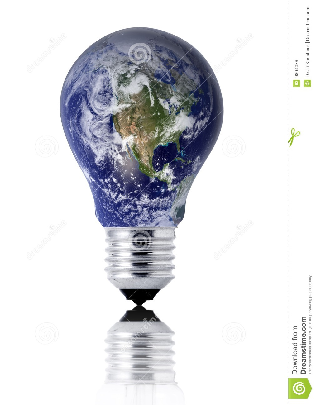 Earth Lightbulb Royalty Free Stock Images - Image: 9804039