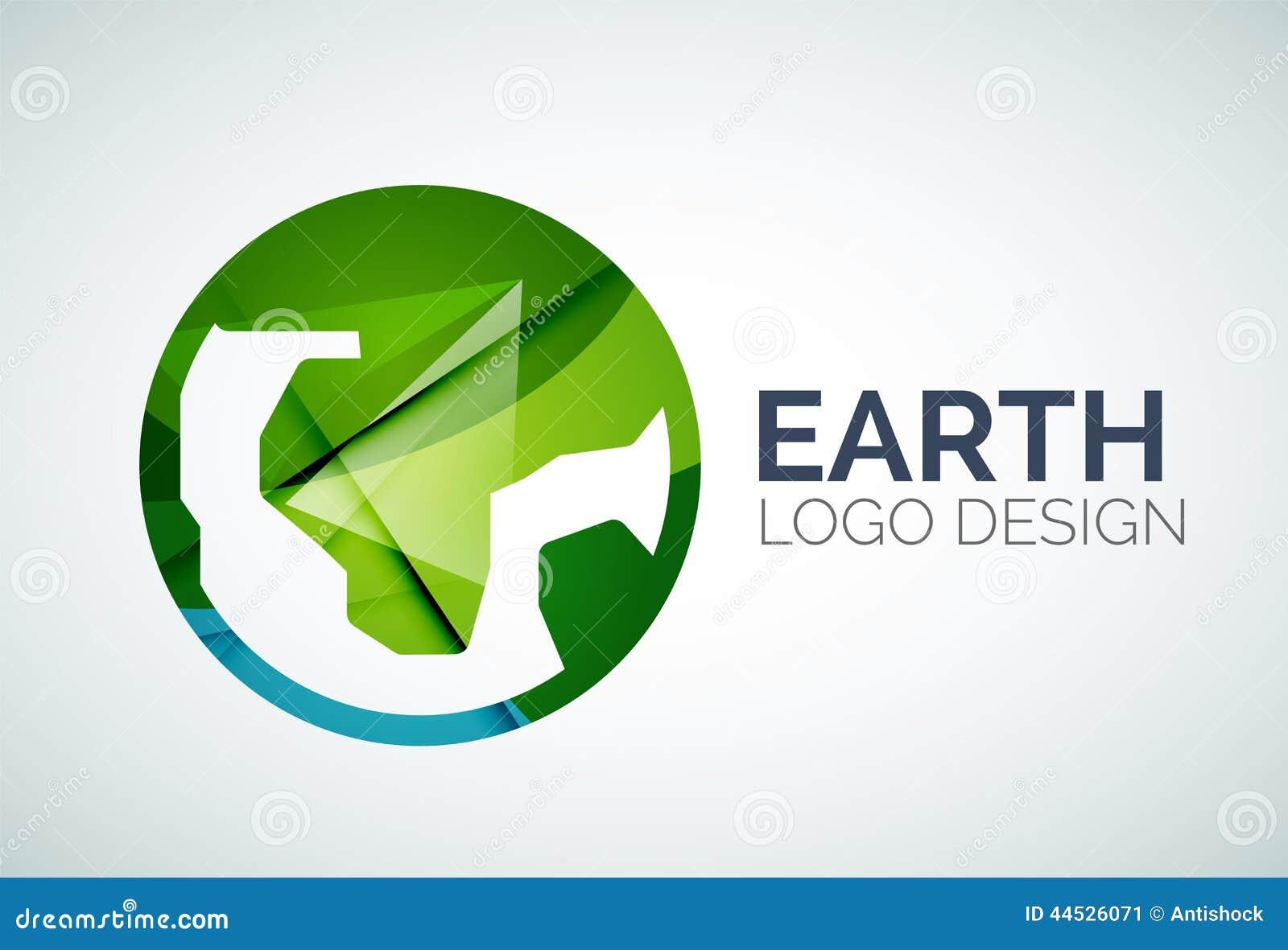 Earth Logo Design Made Of Color Pieces Stock Vector ... Green Earth Logo Vector
