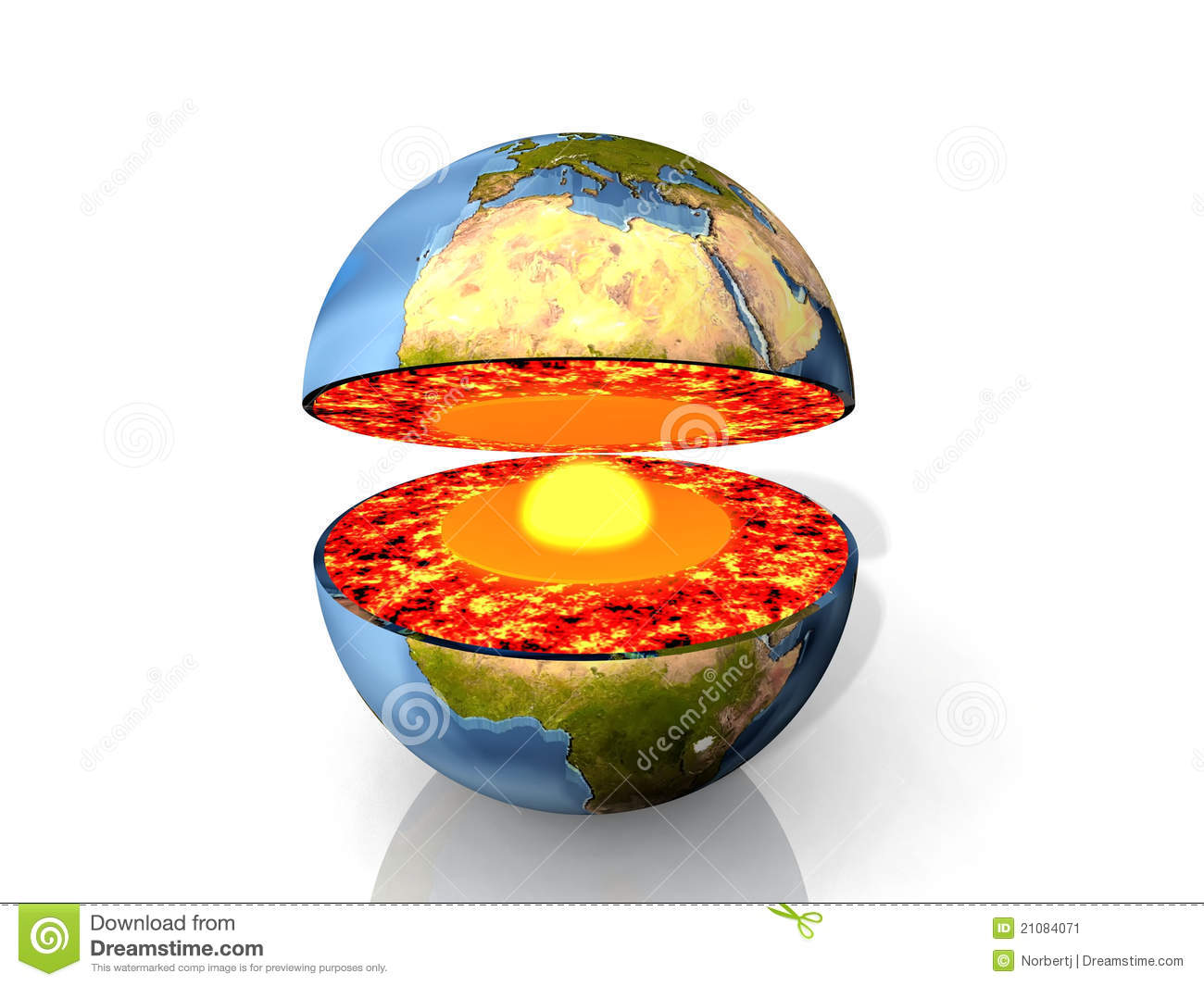 Earth And Magma Stock Image Image