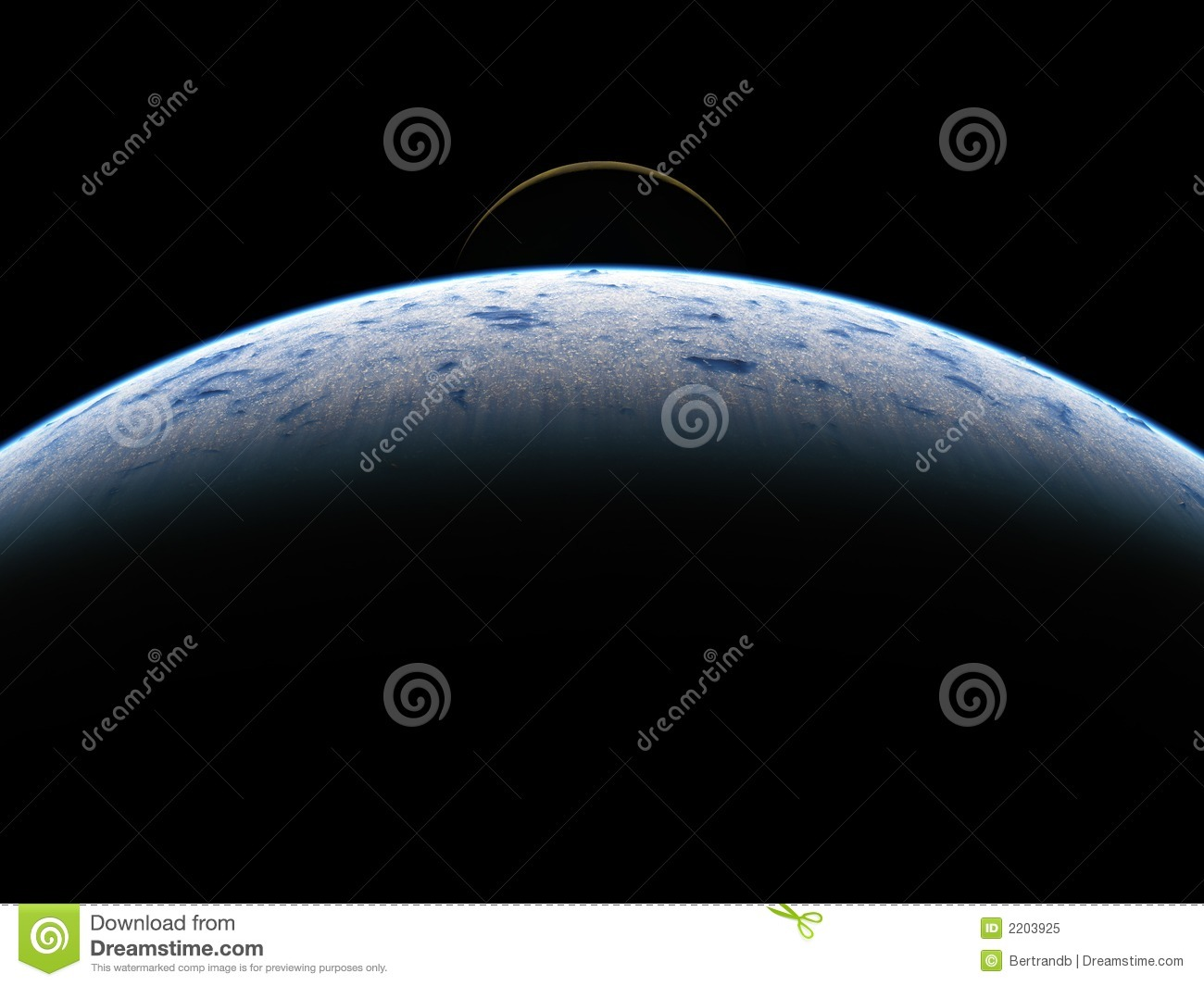 Earth and moon seen from space