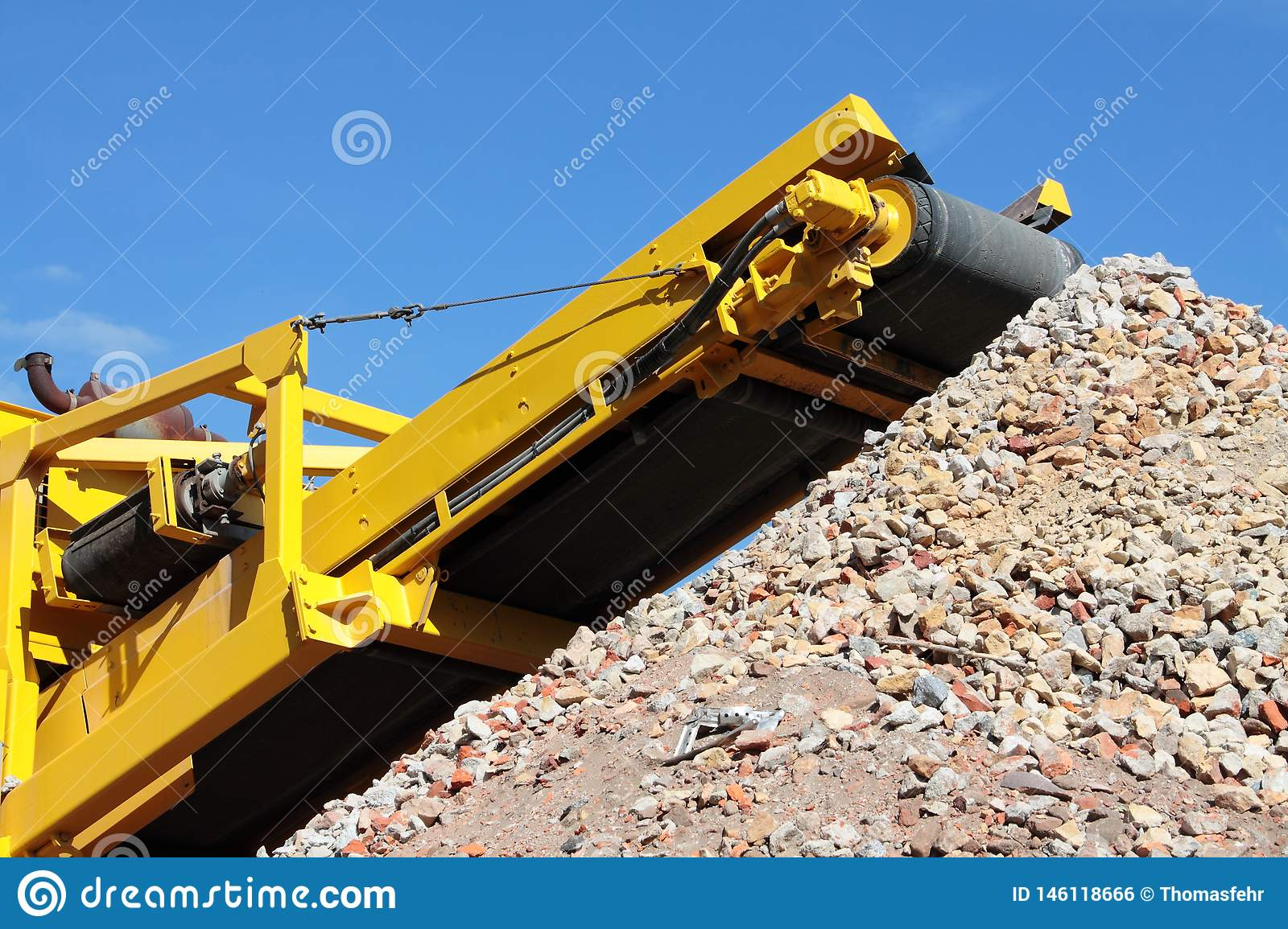 Earth moving machine in action