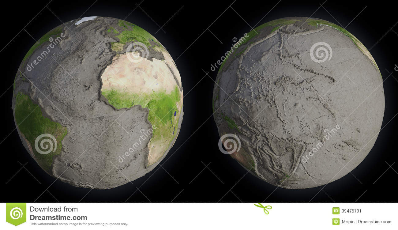 Earth Without Oceans Stock Photo Image 39475791