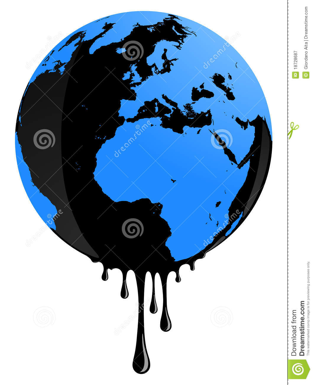 Earth Oil Pollution Royalty Free Stock Photography - Image: 18728687