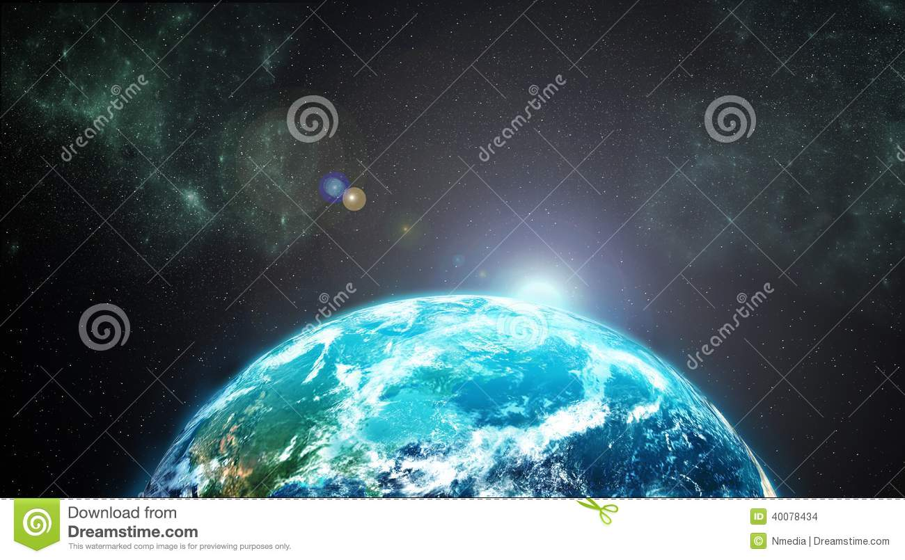 Earth from outer space stock illustration image 40078434 for From outer space