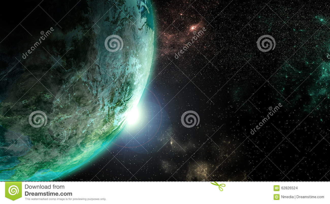 Earth from outer space stock photo image 62826524 for From outer space