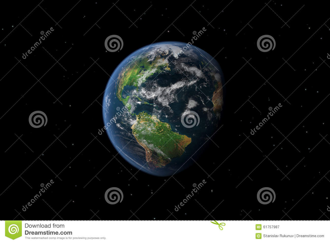 Earth from outer space stock illustration image 61757987 for 3d outer space map