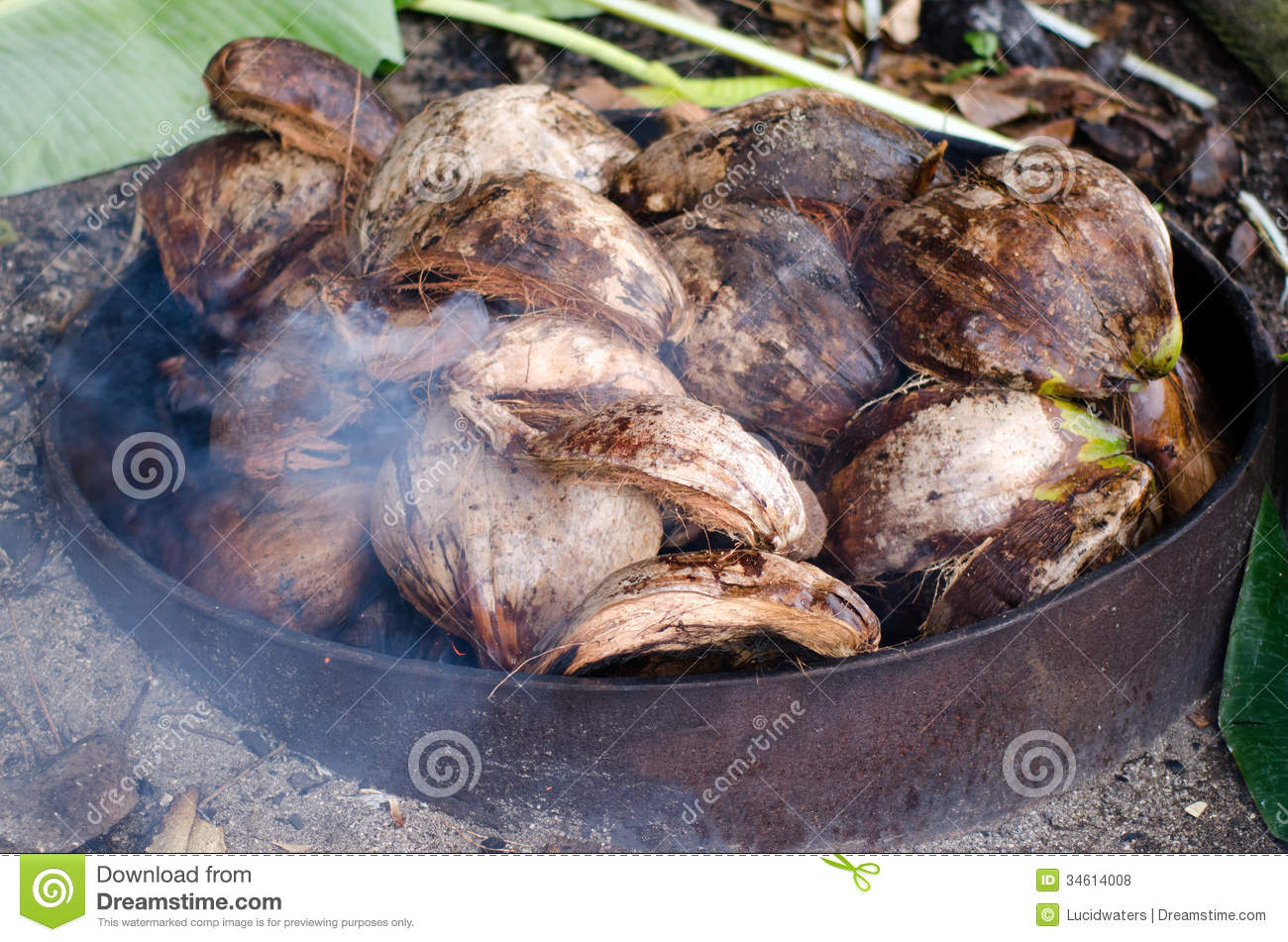 Earth Oven - Pacific Island Royalty Free Stock Photos ...