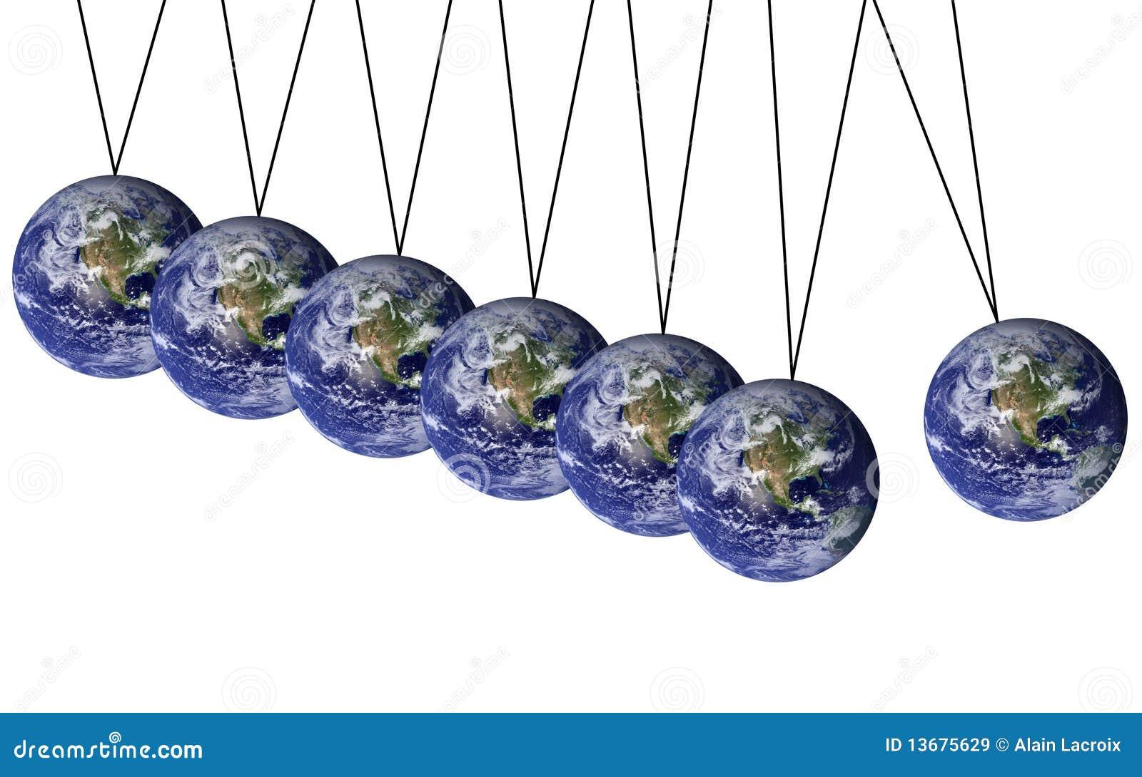 Earth pendulum stock illustration  Illustration of danger - 13675629