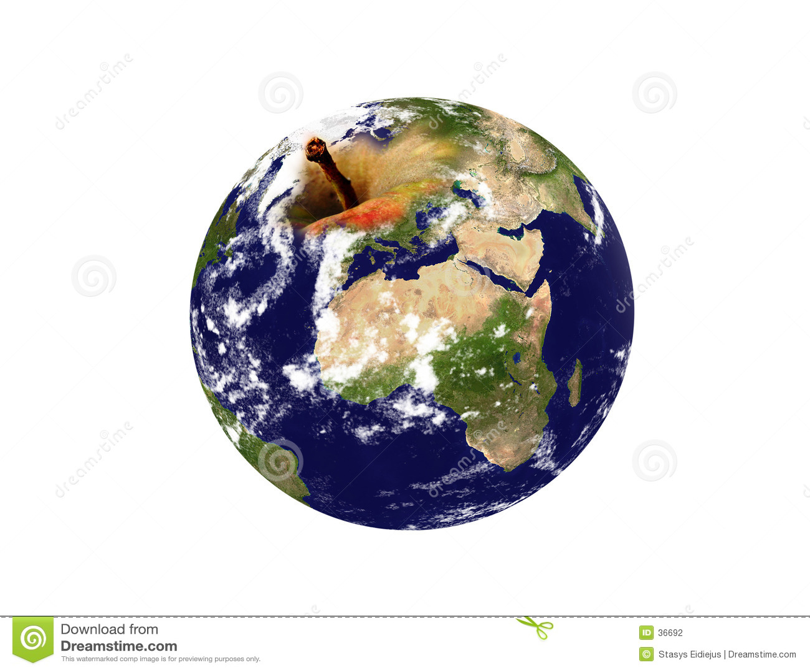 Earth planet- an apple