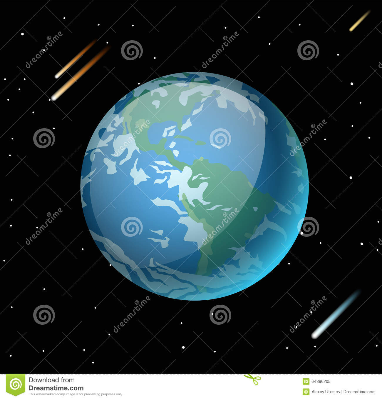 Earth planet 3d vector illustration stock vector illustration of download comp gumiabroncs Images