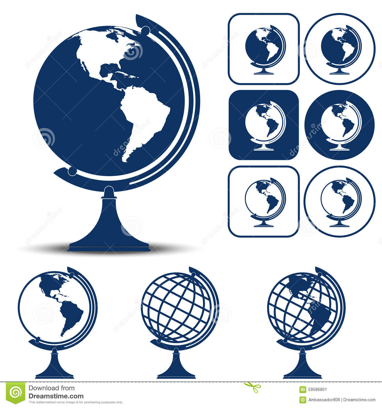 Earth Planet Globe Vector Illustration Stock Vector ...