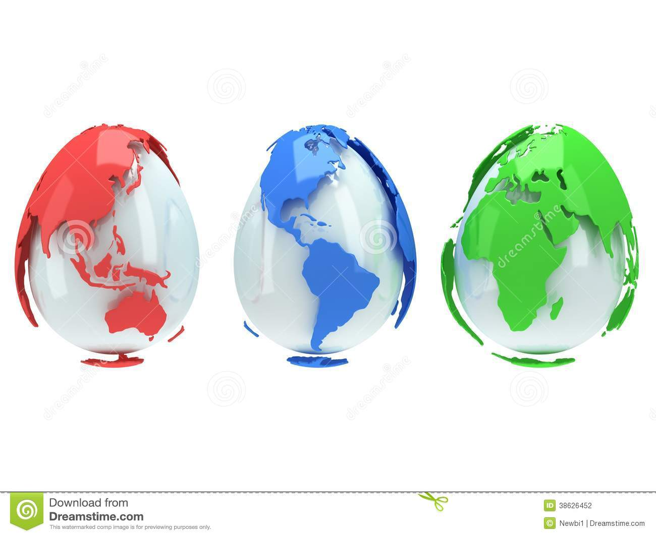 Earth planet globes like eggs 3d render stock for World of war craft com