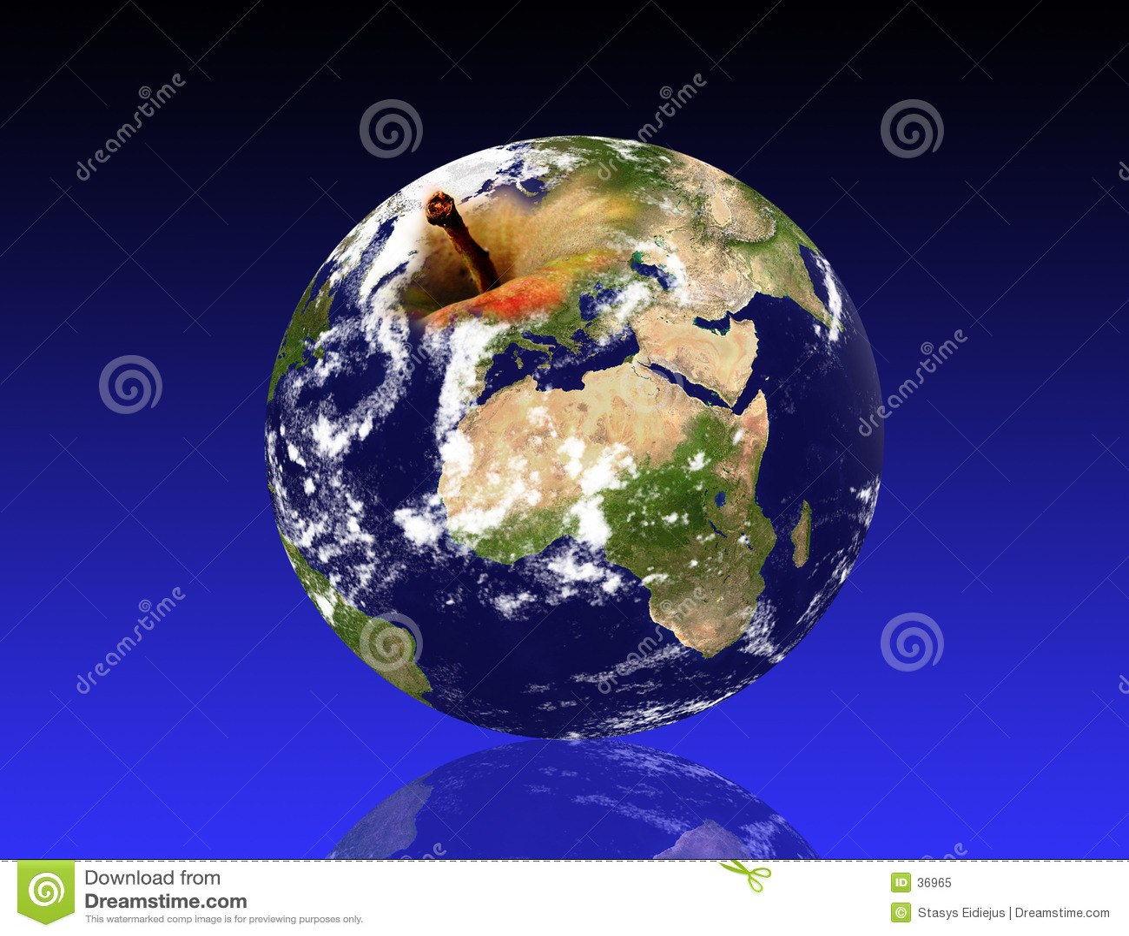 Earth planet, like an apple