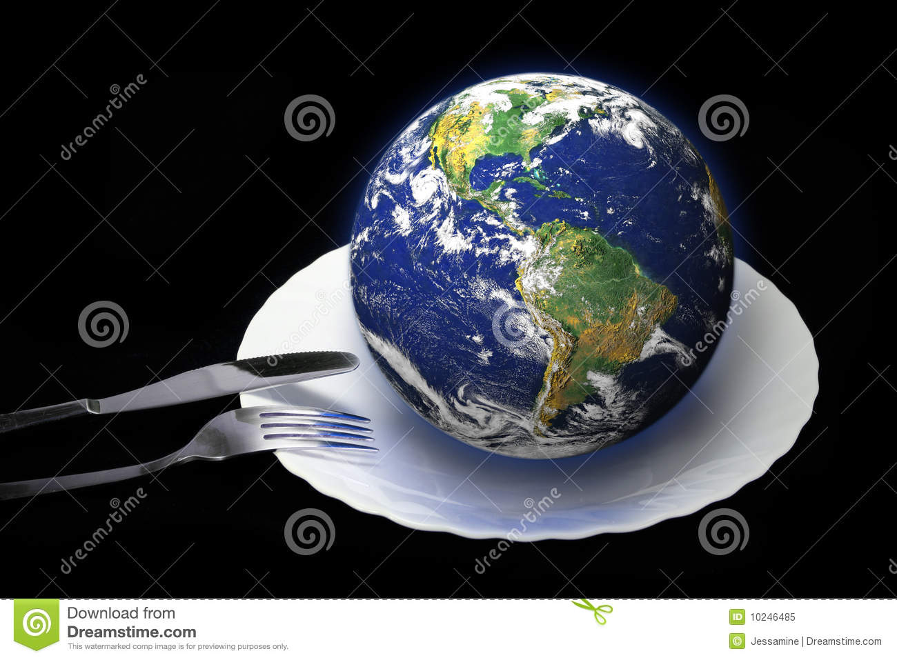 Earth on a plate