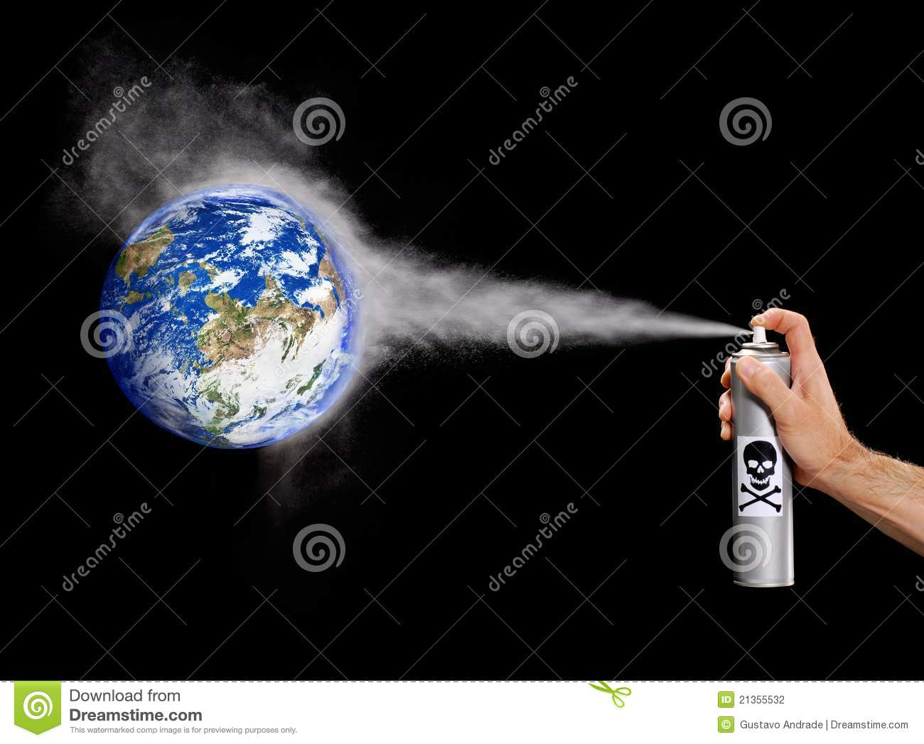 Earth Pollution. Stock Photography - Image: 21355532