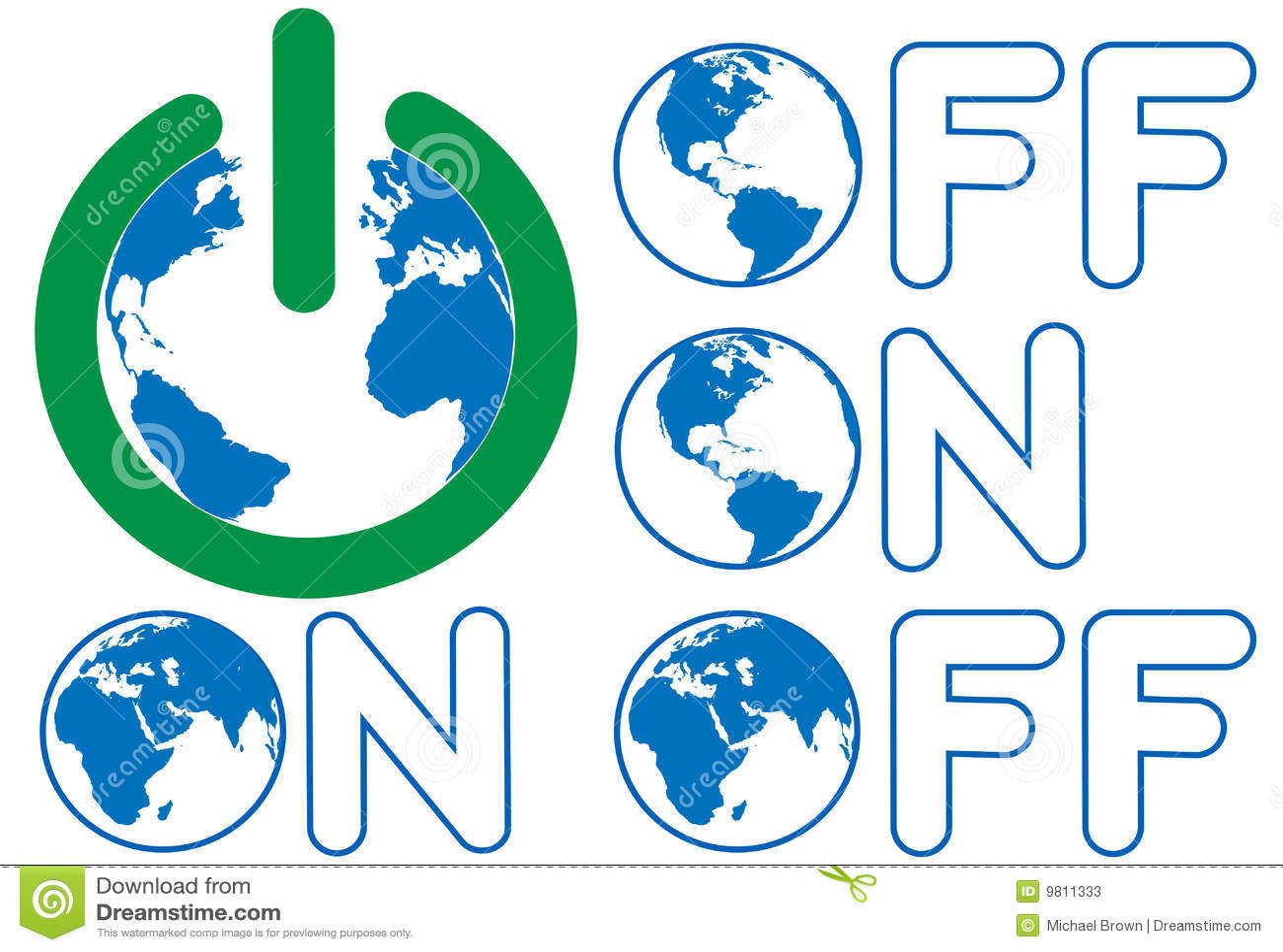 Earth Power OFF ON Eastern Western Hemisphere