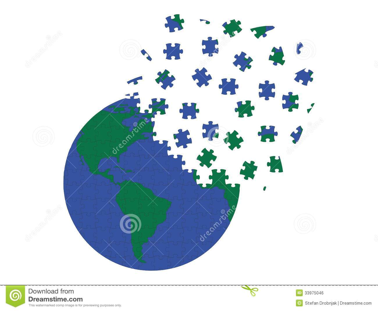 earth in puzzle pieces stock vector  image of planet