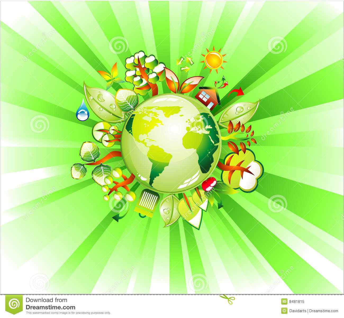 Earth Recycle Concet Background Royalty Free Stock Photo
