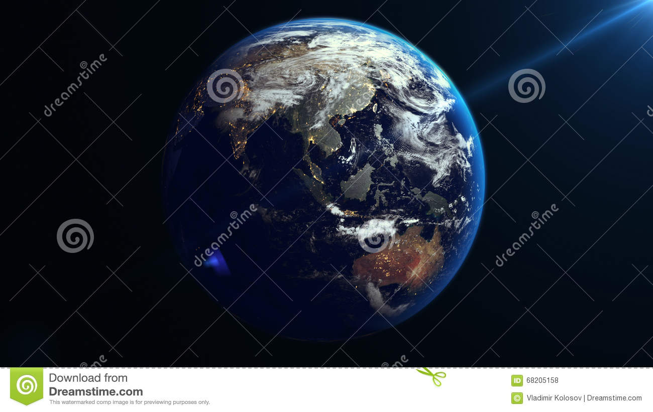 Earth rotation in space asia stock illustration illustration of earth rotation in space asia royalty free illustration gumiabroncs Images